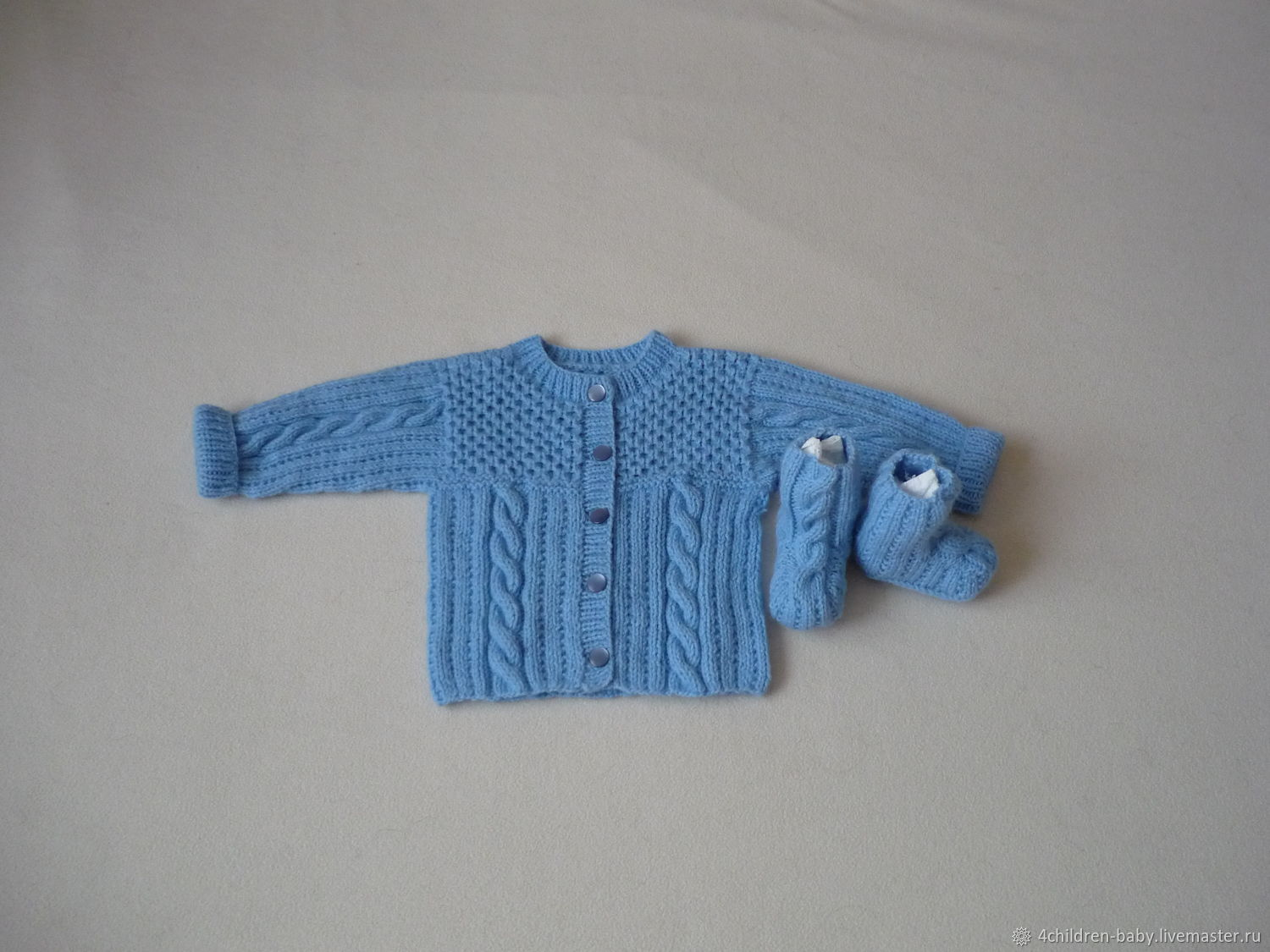 Blue blouse and booties, Baby Clothing Sets, Moscow,  Фото №1