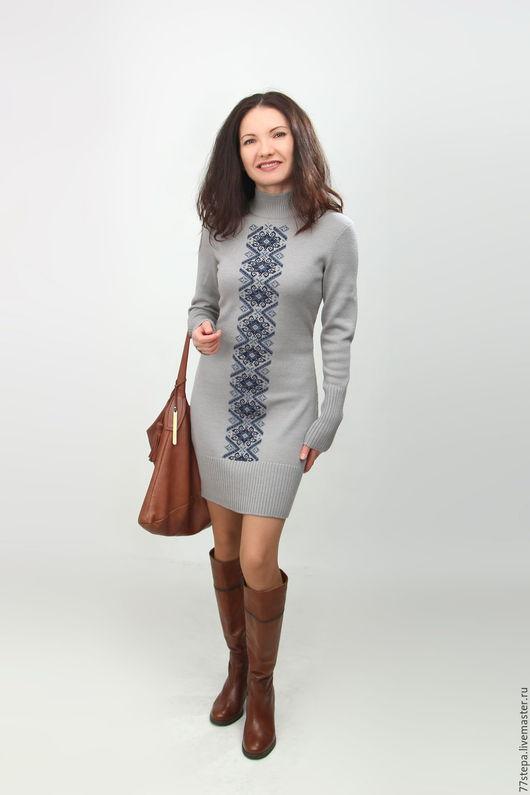 Платья ручной работы. Ярмарка Мастеров - ручная работа. Купить Платье вязаное  4514. Handmade. Комбинированный, платье вязаное