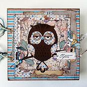 """Photo albums handmade. Livemaster - original item Album for photographs """"Sovushka"""". Handmade."""