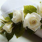 Свадебный салон ручной работы. Ярмарка Мастеров - ручная работа Веточка с белыми розами. Handmade.