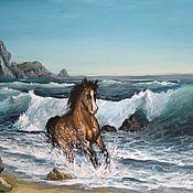 Картины ручной работы. Ярмарка Мастеров - ручная работа Конь. Handmade.
