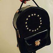 Рюкзаки ручной работы. Ярмарка Мастеров - ручная работа Женский рюкзак из натуральной кожи велюр и лаковой кожи. Handmade.