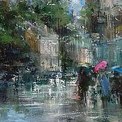 Картины и панно handmade. Livemaster - original item Pokrovsky Boulevard/ 60h40 cm/ oil on canvas. Handmade.