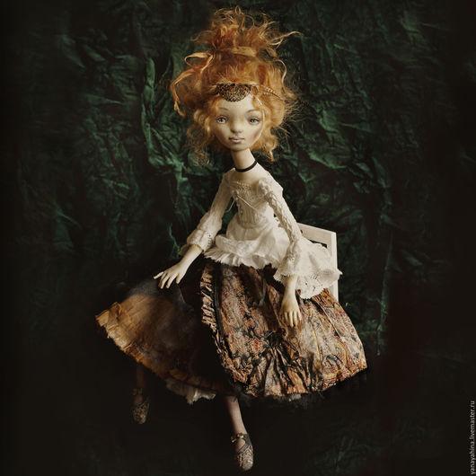 Коллекционные куклы ручной работы. Ярмарка Мастеров - ручная работа. Купить Адель. Handmade. Коллекционная кукла, Будуарная кукла