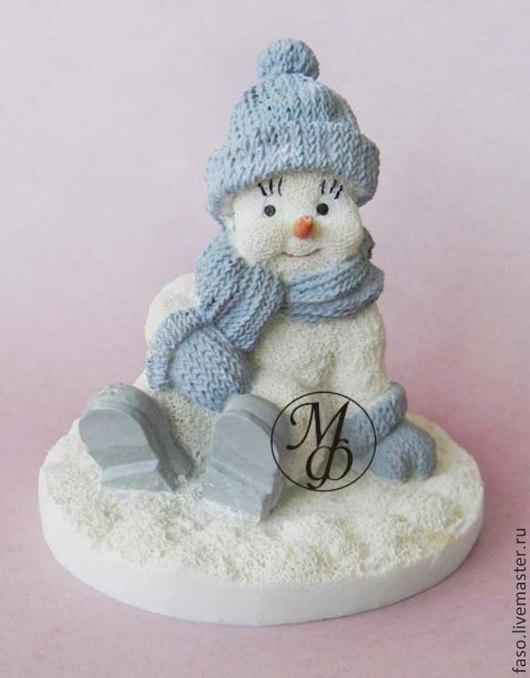 Другие виды рукоделия ручной работы. Ярмарка Мастеров - ручная работа. Купить Силиконовая форма Снеговик-4. Handmade. Розовый