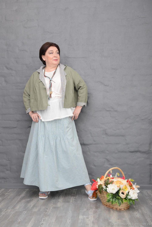 Sweatshirt khaki linen cotton lining on. Art. 2336, Suit Jackets, Kirov,  Фото №1