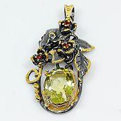 Украшения handmade. Livemaster - original item Silver pendant with lemon quartz.. Handmade.