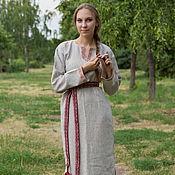 """Одежда ручной работы. Ярмарка Мастеров - ручная работа Платье-рубашка """"Одолень-трава"""". Handmade."""