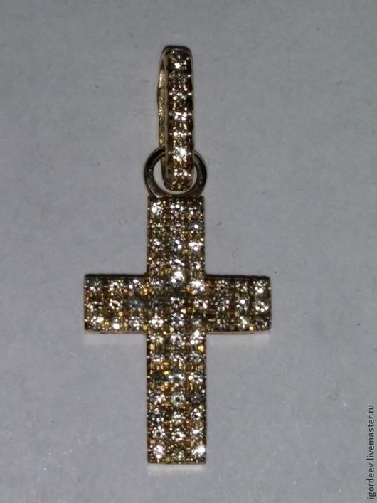 Кулоны, подвески ручной работы. Ярмарка Мастеров - ручная работа. Купить кулон-подвеска в форме бриллиантового креста. Handmade.