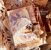 Подарки к праздникам ручной работы. Ярмарка Мастеров - ручная работа Винтажный блокнот I love Paris. Handmade.
