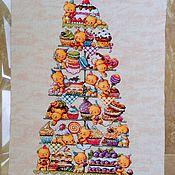 Вышитая картина Мишки сладкоежки, вышивка, soda stitch