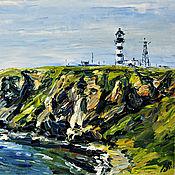 Картины и панно handmade. Livemaster - original item Lighthouse of Lamanon,. Sakhalin. Russia., oil painting. Handmade.