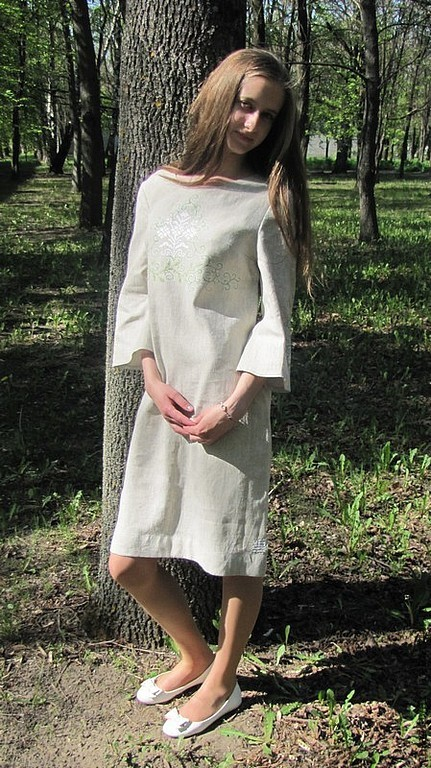 Льняные платья нить