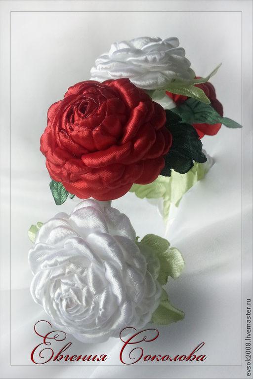 Диадемы, обручи ручной работы. Ярмарка Мастеров - ручная работа. Купить Ободок с розами. Handmade. Розовый, розы из лент