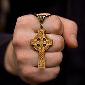Украшения handmade. Livemaster - original item Wooden celtic cross. Handmade.