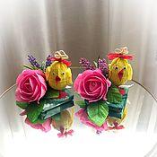Пасхальные сувениры ручной работы. Ярмарка Мастеров - ручная работа Пасхальный цыплёнок. Handmade.