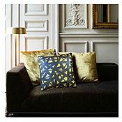 Для дома и интерьера ручной работы. Ярмарка Мастеров - ручная работа кожаная подушка. Handmade.
