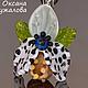 Кулон орхидея `Экзотика` ,  подвеска цветок, подарок подруге
