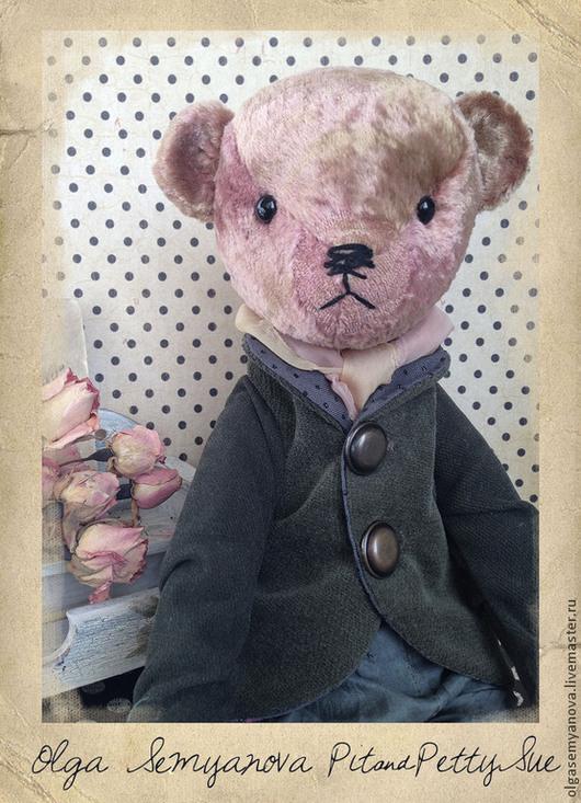 Мишки Тедди ручной работы. Ярмарка Мастеров - ручная работа. Купить Pit. Handmade. Бледно-розовый, мишка тедди