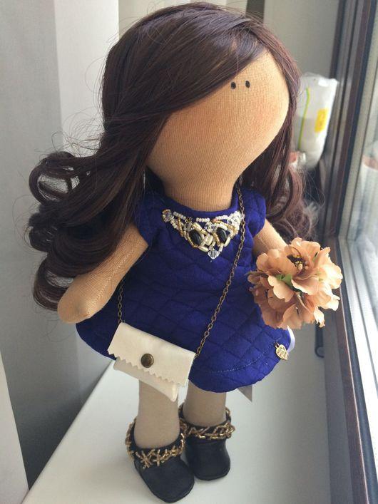 Человечки ручной работы. Ярмарка Мастеров - ручная работа. Купить Кукла Милена. Handmade. Куколка в подарок, трикотаж, пуговицы декоративные