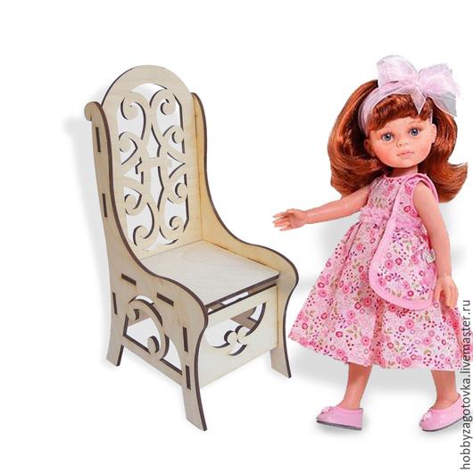 Декупаж и роспись ручной работы. Ярмарка Мастеров - ручная работа. Купить Мебель для кукол: кресло большое. F-0423. Handmade.