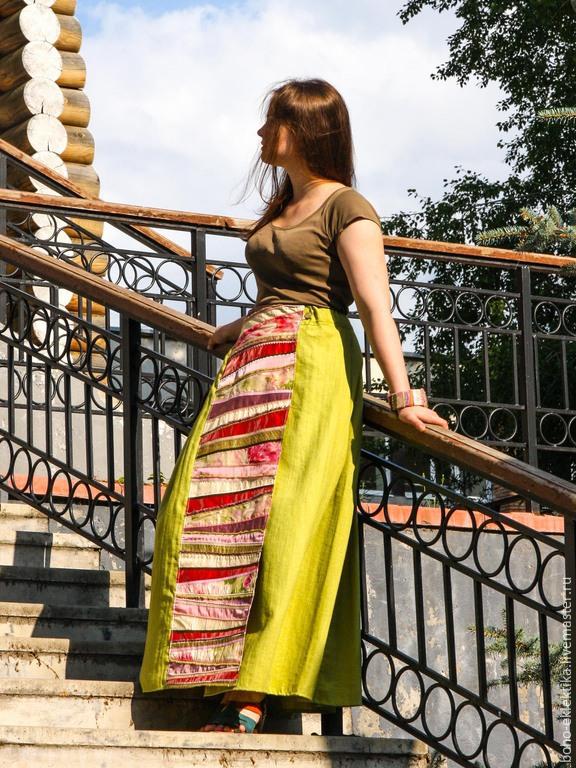 юбка в стиле этно: