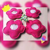 Куклы и игрушки handmade. Livemaster - original item Isoloci felt for girl, boy, Flower, hidden object touch. Handmade.