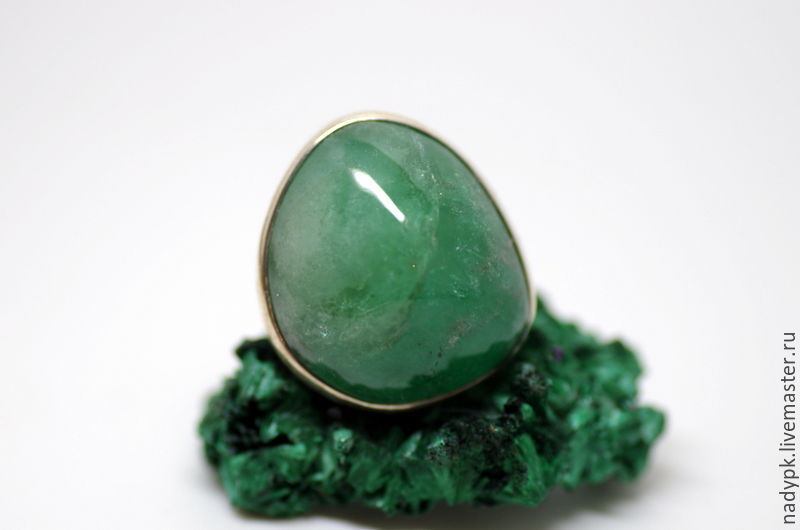 A ring with a beryl Green, silver, Rings, Moscow,  Фото №1