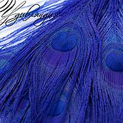 Материалы для творчества ручной работы. Ярмарка Мастеров - ручная работа Перо павлина натуральное, окрашенное №165.. Handmade.