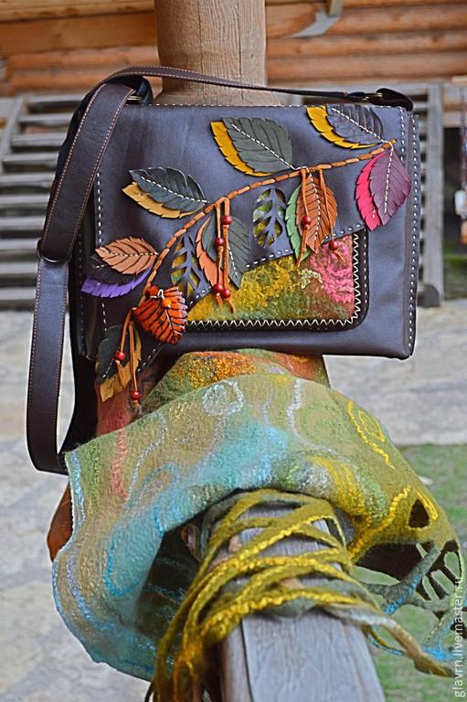 """Женские сумки ручной работы. Ярмарка Мастеров - ручная работа. Купить Сумка и шарф """"Дивная пора.... Handmade. Разноцветный, лес"""