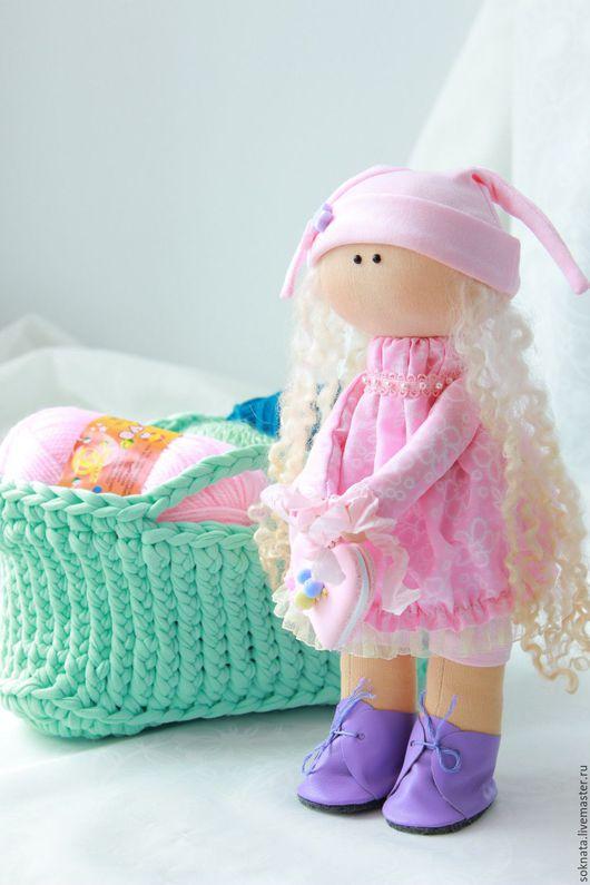 Коллекционные куклы ручной работы. Ярмарка Мастеров - ручная работа. Купить Кукла интерьерная текстильная. Handmade. Бледно-розовый