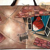 """Сумки и аксессуары ручной работы. Ярмарка Мастеров - ручная работа Сумка-папка для художника """"Страна мечт"""". Handmade."""
