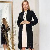 Одежда handmade. Livemaster - original item Premium black coat. Handmade.