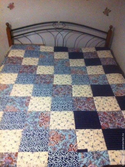 Текстиль, ковры ручной работы. Ярмарка Мастеров - ручная работа. Купить Покрывало лоскутное. Handmade. Лоскутное покрывало, хлопок