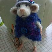 """Войлочная игрушка ручной работы. Ярмарка Мастеров - ручная работа Мышь """"Хозяюшка"""". Handmade."""