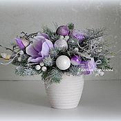 Цветы и флористика handmade. Livemaster - original item The Composition Of The New Year.Christmas bouquet. New year 2018.. Handmade.