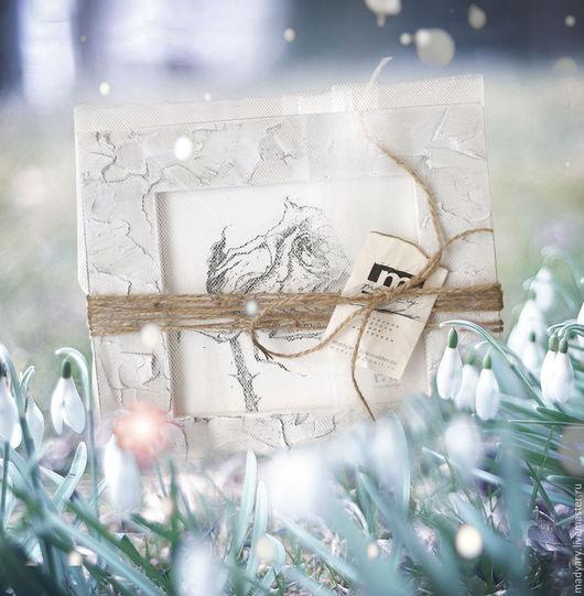 Картины цветов ручной работы. Ярмарка Мастеров - ручная работа. Купить картина Роза с надеждой (подарок на праздник ручной работы, мятный). Handmade.