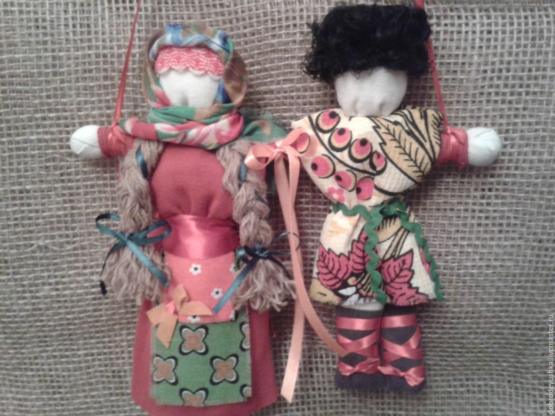 Неразлучники-славянский оберег, Народные куклы, Москва, Фото №1
