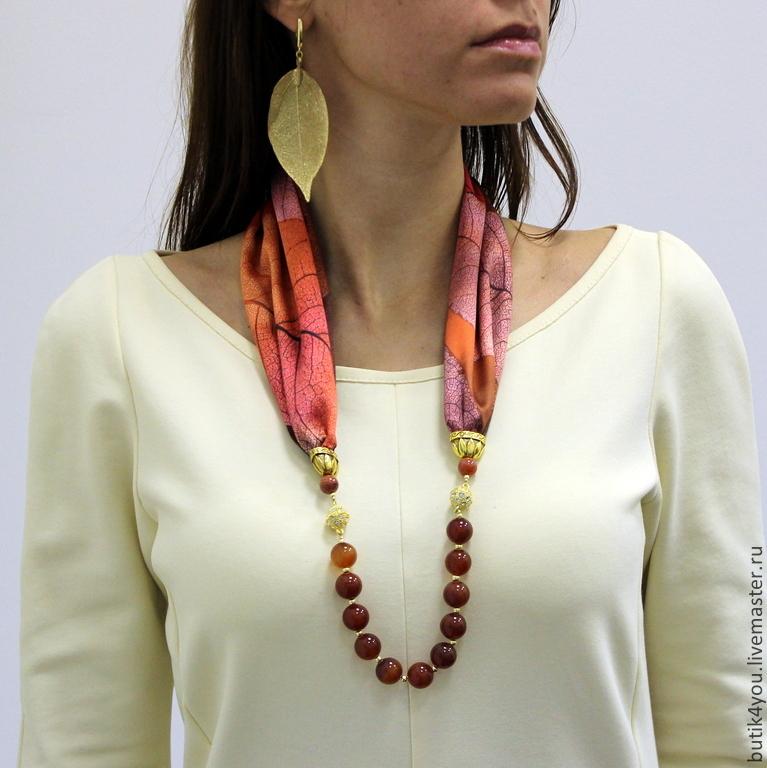 Шейное украшение с шарфом 101