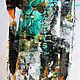 Абстракция ручной работы. Ярмарка Мастеров - ручная работа. Купить Малахитовые Вены, Оригинал картина абстракция. Handmade. Абстракция