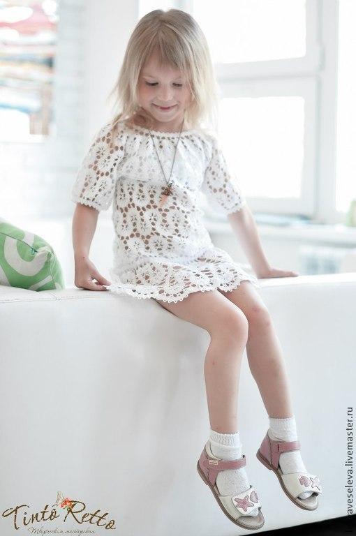 белое платье для маленькой модници