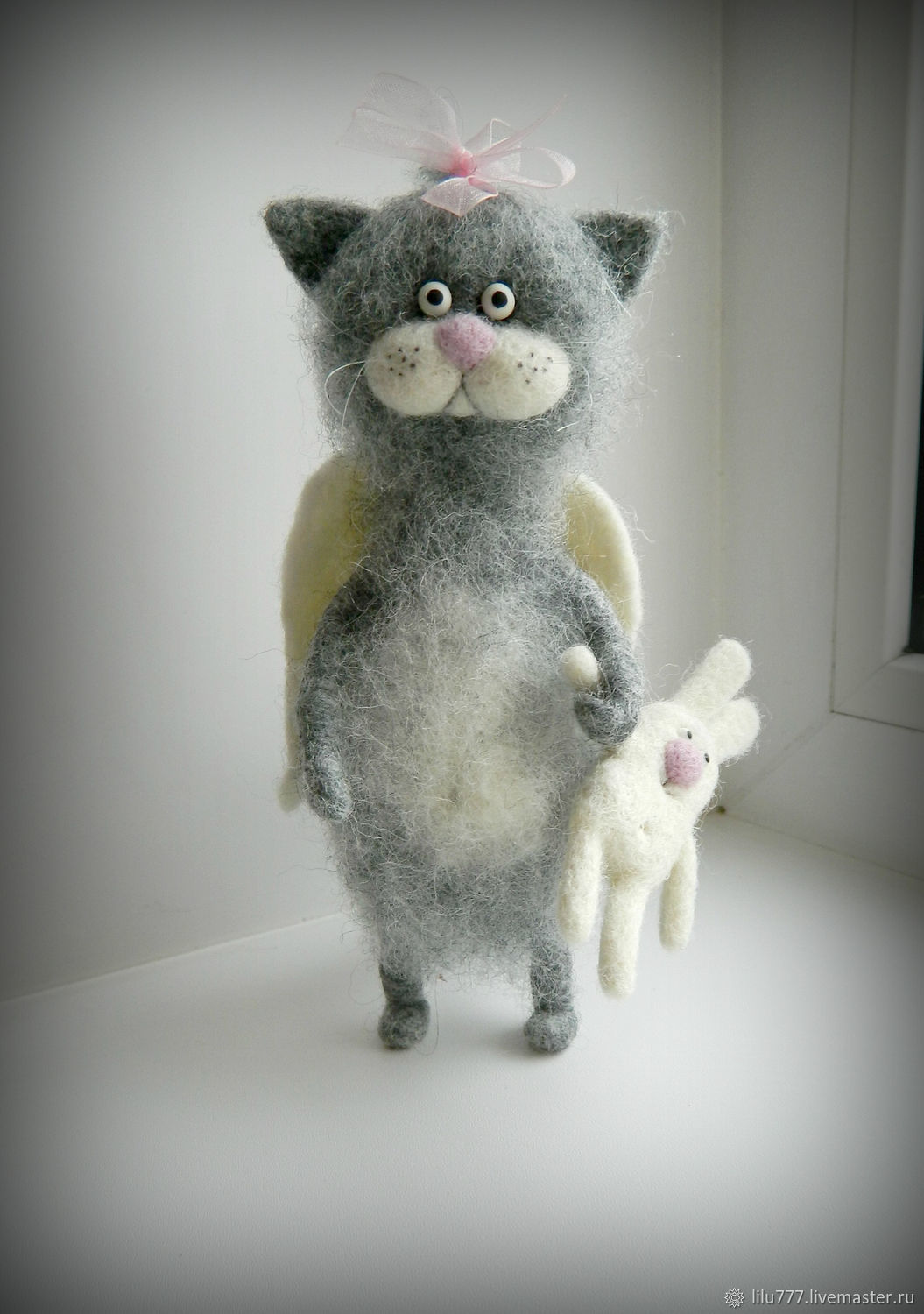 Cat angel felted cats cats kittens, Felted Toy, Ufa,  Фото №1