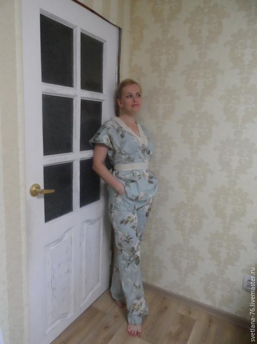"""Белье ручной работы. Ярмарка Мастеров - ручная работа. Купить Домашний костюм """"Винтажная роза"""". Handmade. Разноцветный, костюм домашний"""