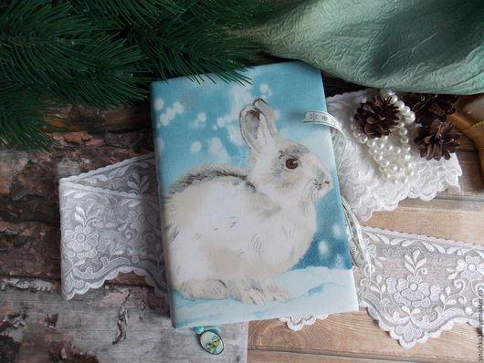 """Блокноты ручной работы. Ярмарка Мастеров - ручная работа. Купить Блокнот """"В зимнем лесу"""". Handmade. Голубой, блокнот для девушки"""