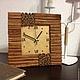 """Часы для дома ручной работы. Ярмарка Мастеров - ручная работа. Купить Часы """"Золотая корица"""". Handmade. Рыжий, часы в гостиную"""