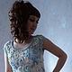 """Блузки ручной работы. Ярмарка Мастеров - ручная работа. Купить блузка """"Нежность"""". Handmade. Голубой, нарядная блузка, вискоза 100%"""