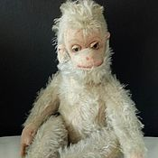 Винтажная  обезьянка из мохера. Германия. Hermann