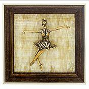 Картины ручной работы. Ярмарка Мастеров - ручная работа Панно Балерина. Handmade.