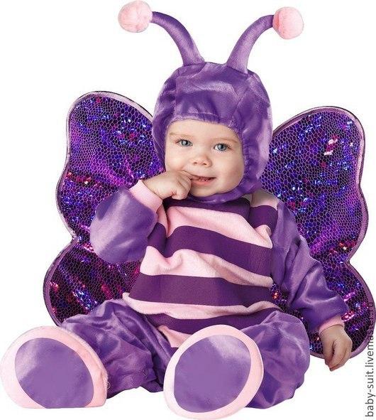 Карнавальный новогодний костюм Бабочки для малышей и детей