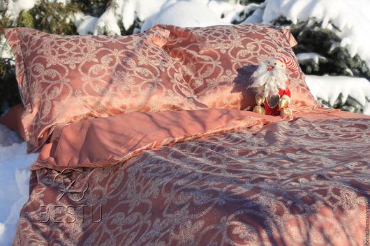 """Текстиль, ковры ручной работы. Ярмарка Мастеров - ручная работа. Купить """"Вальс"""" постельное белье из жаккарда и сатина премиум класса. Handmade."""